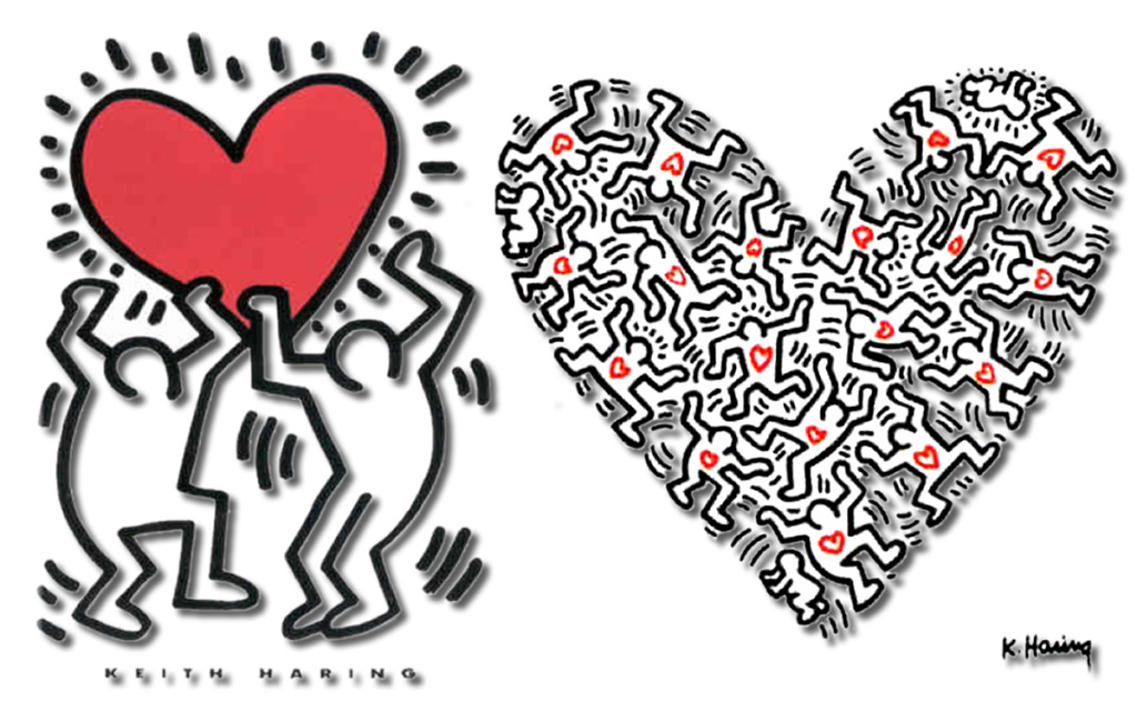 KEITH HARINGS berømte figurer. Foto: © Keith Haring Foundation.