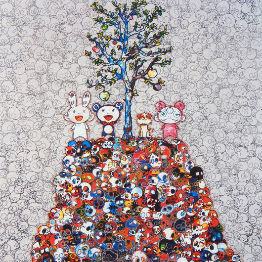 Takashi Murakami - Kaikai, Kiki, DOB, and POM atop the Mound of the dead