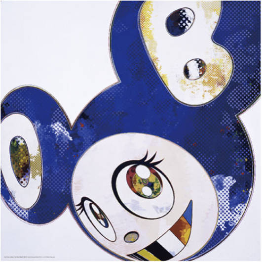 Takashi Murakami - And Then x 6 (Blue: The Polke Method)