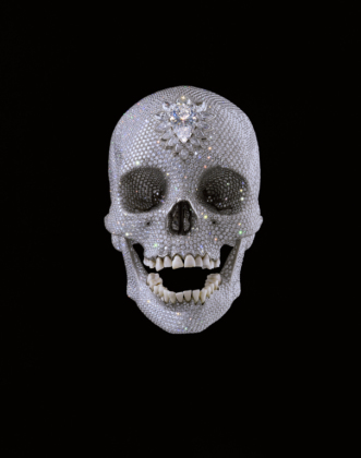 For the Love of God, 2007, platinum, diamanter og mennesketenner. Foto: � Damien Hirst. All rights reserved. DACS 2011.