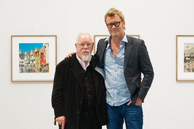 Sir Peter Blake og Magne Furuholmen hos Stolper and Friends.