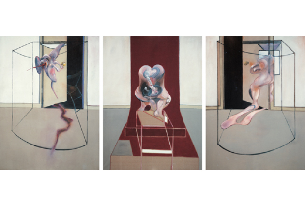 Francis Bacon, (1909–1992, England) Triptych Inspired by the Oresteia of Aeschylus, 1981, olje på lerret, 218,5 x 167,5 cm ( x 3). Foto: AFM.