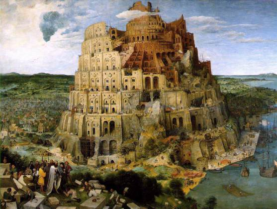 PIETER BRUEGHEL THE ELDER (1526/1530–1569), Tower of Babel, 1563, 114 × 155 cm.