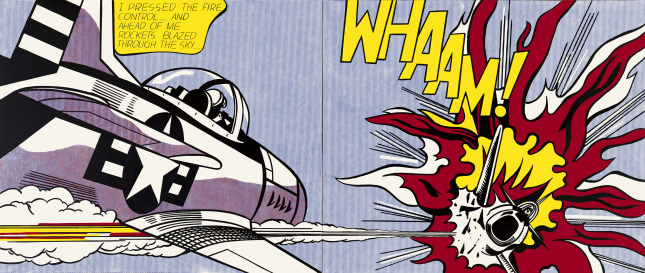 Whaam! fra 1963 er kanskje det mest kjente av Roy Lichtensteins motiver. Foto: Tate © Estate of Roy Lichtenstein / DACS 2012.