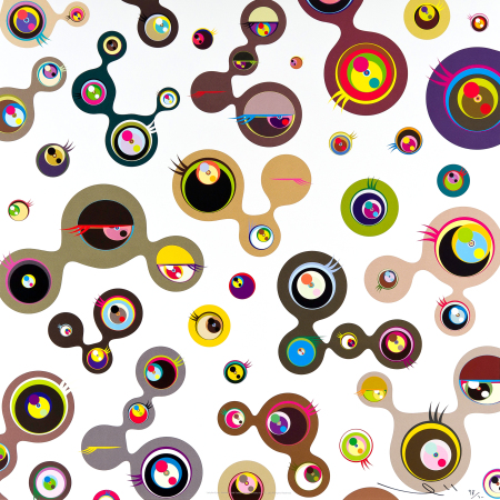 Takashi Murakami - Jellyfish eyes #4 (white)
