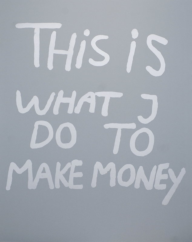 Bjarne Melgaard - This is what I do to make money (silver/grey)