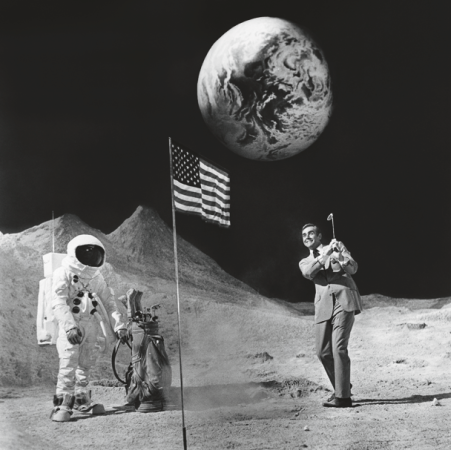 "Terry O'Neill - Sean Connery on the moon (24"" x 20"")"