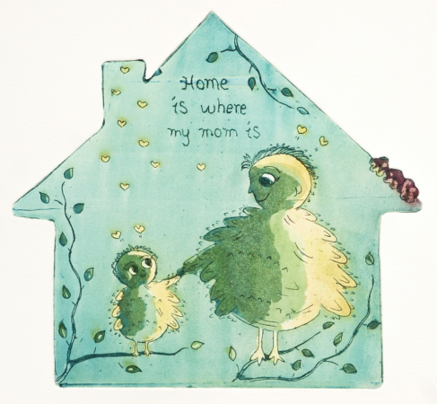 Marianne B. Gudem - Home is where my mom is (blå)