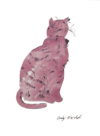 Andy Warhol - Cat (pink)