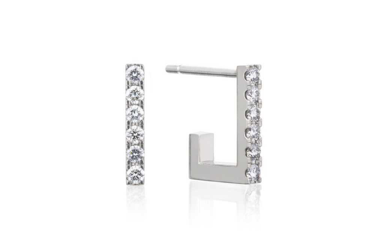 Celine Gulset - BAR DIAMOND HOOPS