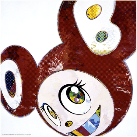 Takashi Murakami - And Then x 6 (Red dots: The Superflat Method)