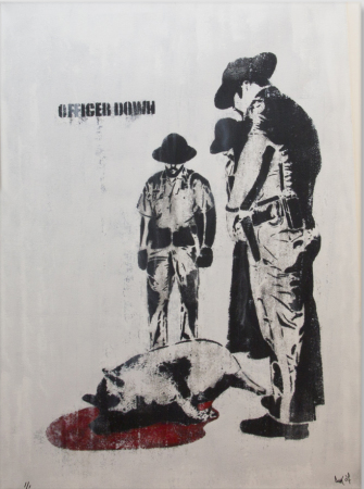 Dolk - Officer Down (canvas) 1/1
