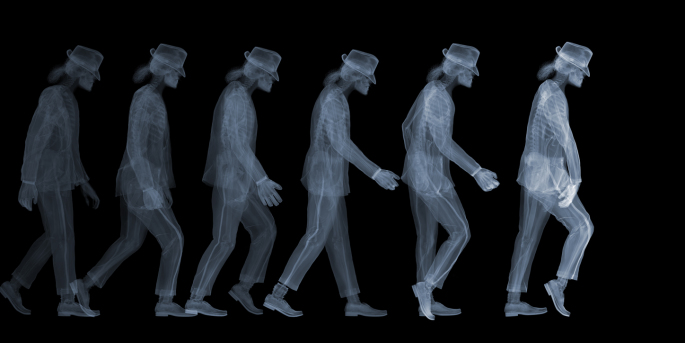Nick Veasey - Michael Jackson Moonwalk