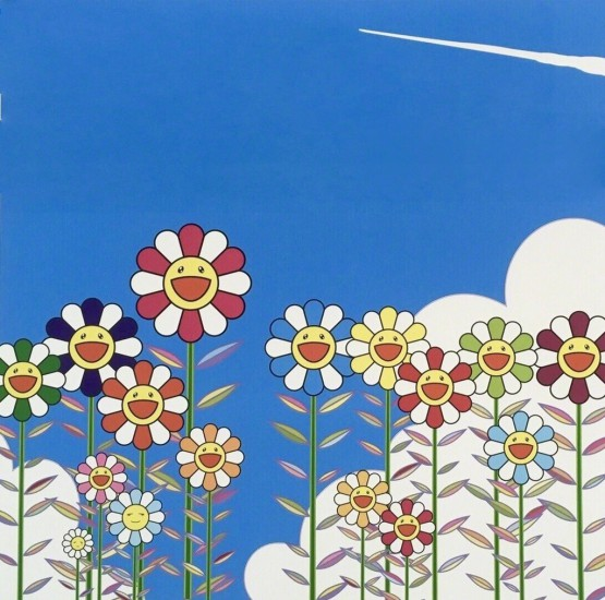 Takashi Murakami - Vapor Trail in the Blue Summer Sky