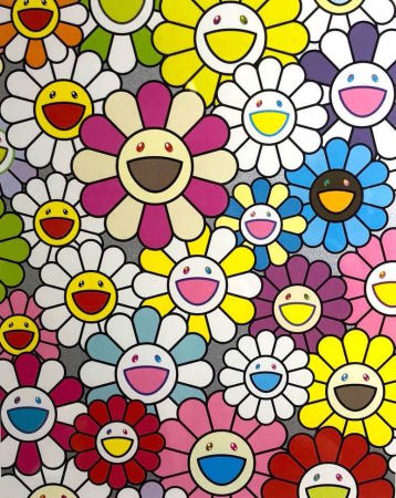 Takashi Murakami - A Little Flower Painting: Pink, Purple And Many Other Colors