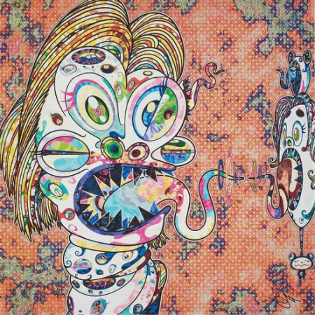 Takashi Murakami - Homage to Francis Bacon (Study for Head of Isabel Rawsthorne)