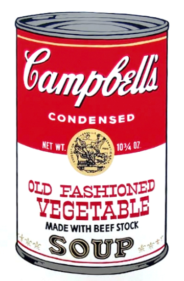 Andy Warhol - Campbell's Soup: Old Fashioned Vegetable