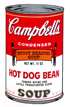 Andy Warhol - Campbell's Soup: Hot dog bean
