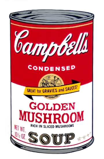 Andy Warhol - Campbell's Soup: Golden Mushroom
