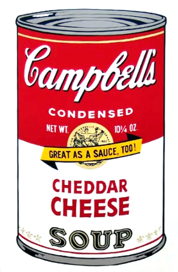 Andy Warhol - Campbell's Soup: Cheddar Cheese