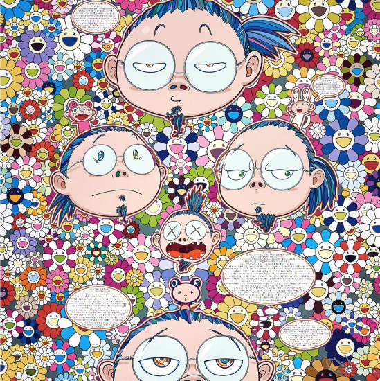 Takashi Murakami - Self-Portrait of the Manifold Worries of a Manifoldly Distressed Artist