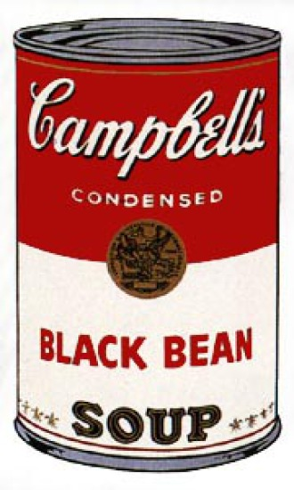 Andy Warhol - Campbell's Soup: Black Bean