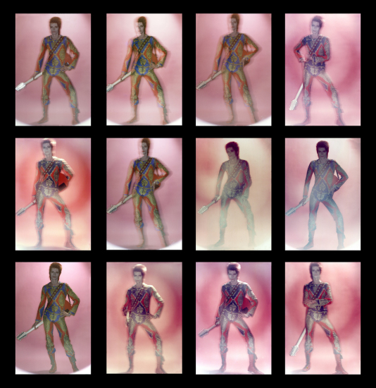 Brian Duffy - Ziggy Stardust contact sheet