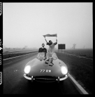 Brian Duffy - E-type Jaguar on M1 Motorway
