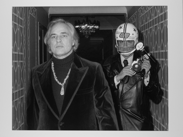 Ron Galella - Marlon Brando and Ron Galella