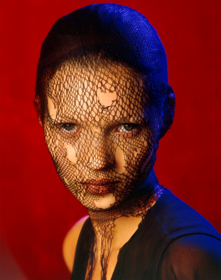 Albert Watson - Kate Moss in torn veil