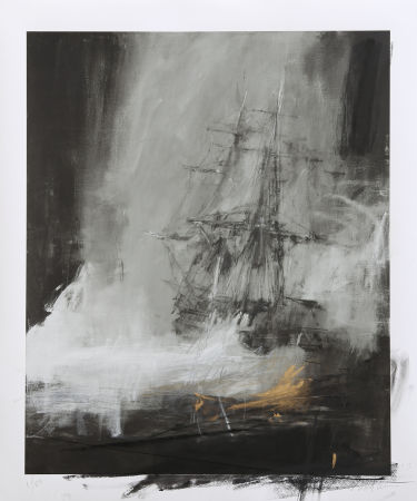 Jake Wood Evans - Seascape with Charcoal