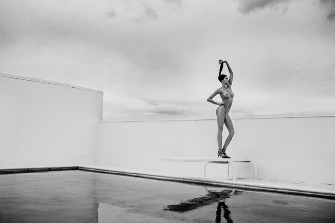 Russell James - Keir Miami rooftop pool 2014