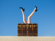 Tyler Shields - Louis Vuitton trunk
