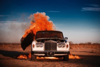 Tyler Shields - Rolls Royce on fire