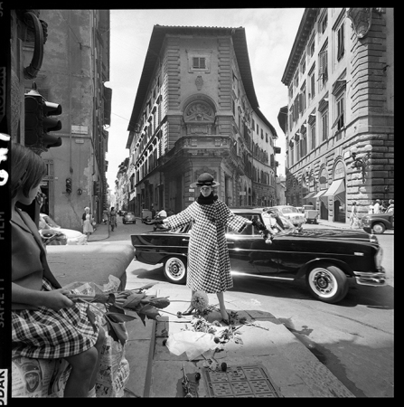 Brian Duffy - Girl with Mercedes - Florence 1962 15' x 15'