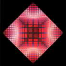 Victor Vasarely - Dell-2 (Structures universelles du Damier)