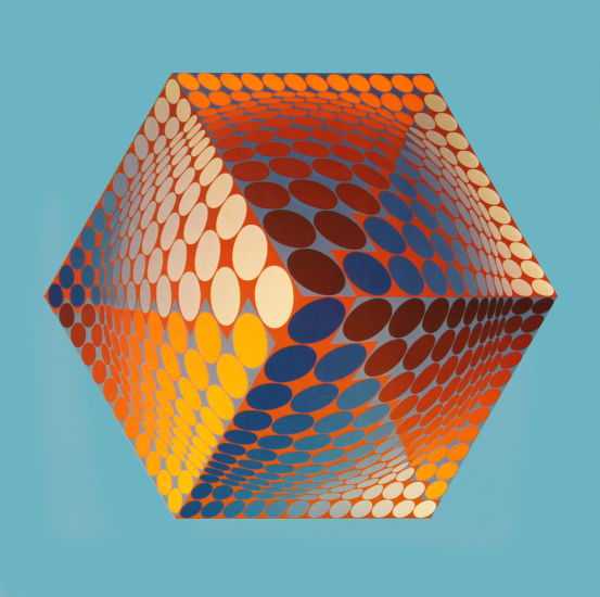Victor Vasarely - Tupa-3 (Structures universelles de l'Hexagone)