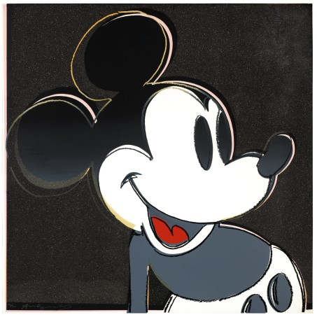 Andy Warhol - Mickey Mouse (black)
