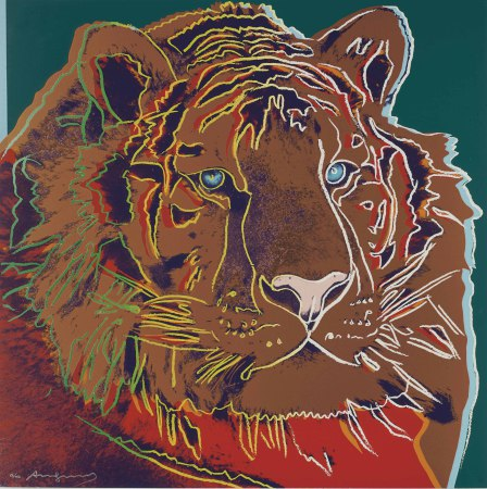 Andy Warhol - Siberian tiger (green)