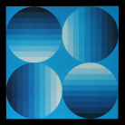 Victor Vasarely - Hold-K (Progressions 2)