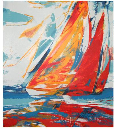 Lucie Rääf - Red regatta