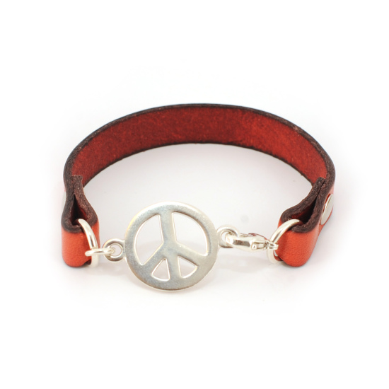 by me - Marianne Tefre - Leather peace bracelet