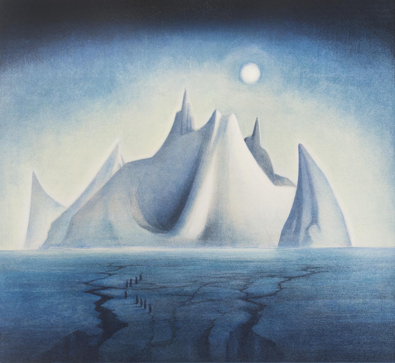 Siste Vebjørn Sand - Trollslottet, håndkolorert (EA), kunst til salgs i VC-68