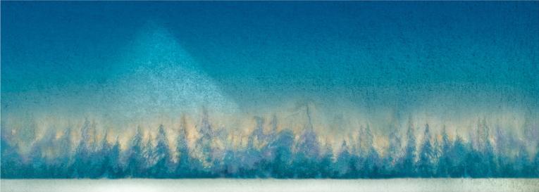 Smarte ressurser Vebjørn Sand - Pyramideskogen , håndkolorert, kunst til salgs i KN-23