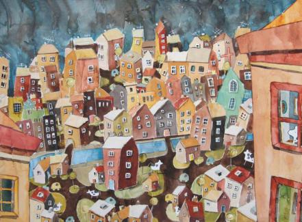 Gunilla Holm Platou - Autumn Color City